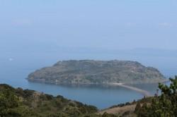 魚見岳から見た知林ヶ島
