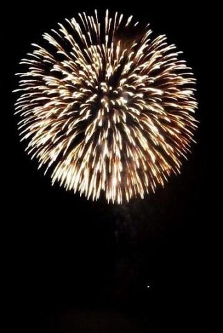 山川みなと祭り花火