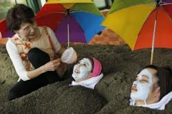 砂むし&タラソお顔パック